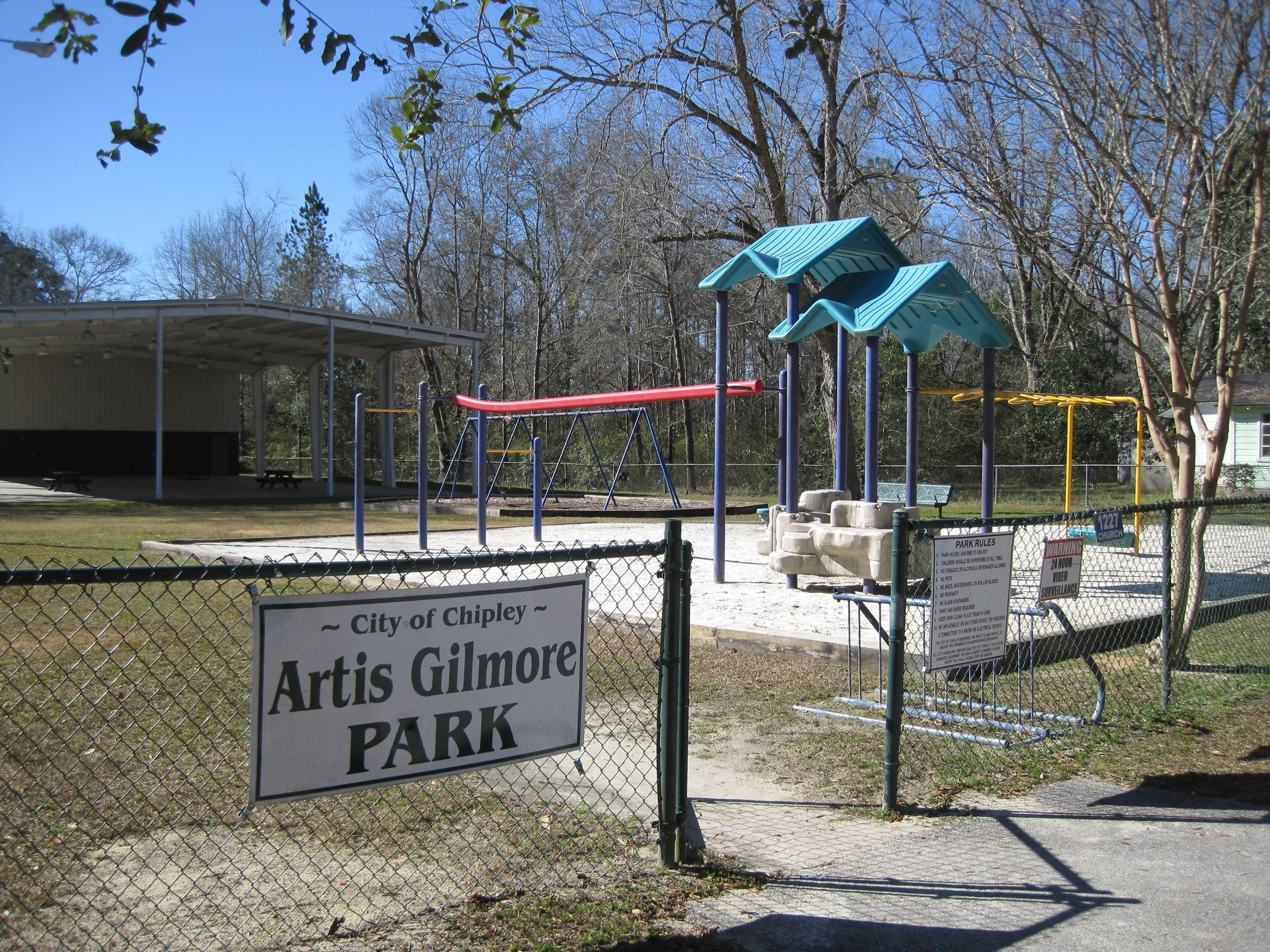 Artis Gilmore Park Gate and Playground